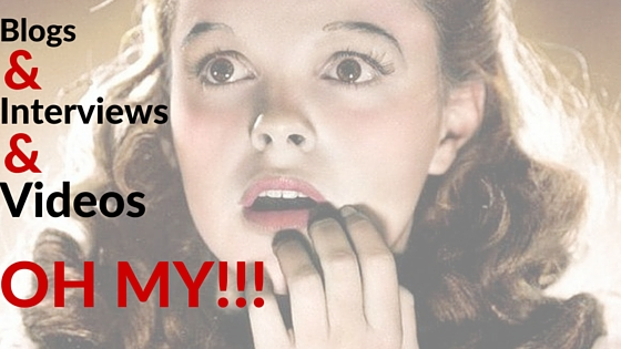 Blogs and Interviews and Videos... OH MY!