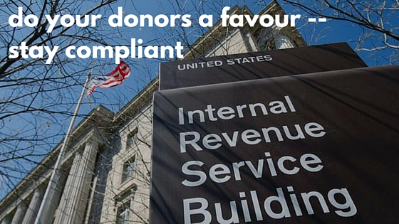 do you donors a favour -- stay compliant