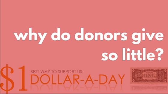 why do donors give so little-
