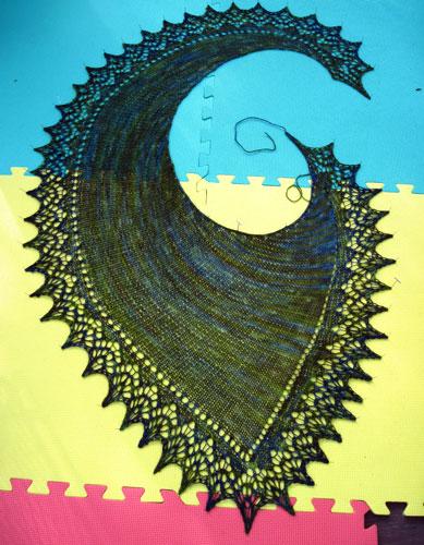 Swirly shawl