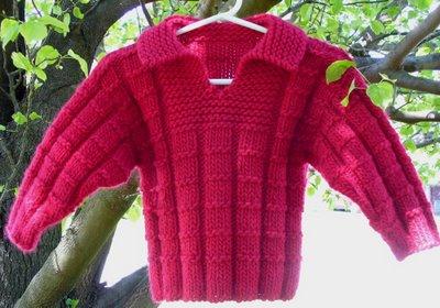 Waffles Charity Knit-along sweater