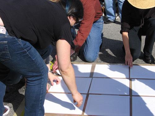 Peeling the paper off the blocks