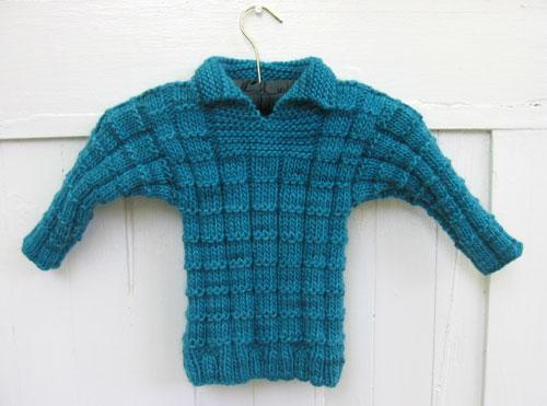 Blue waffle sweater