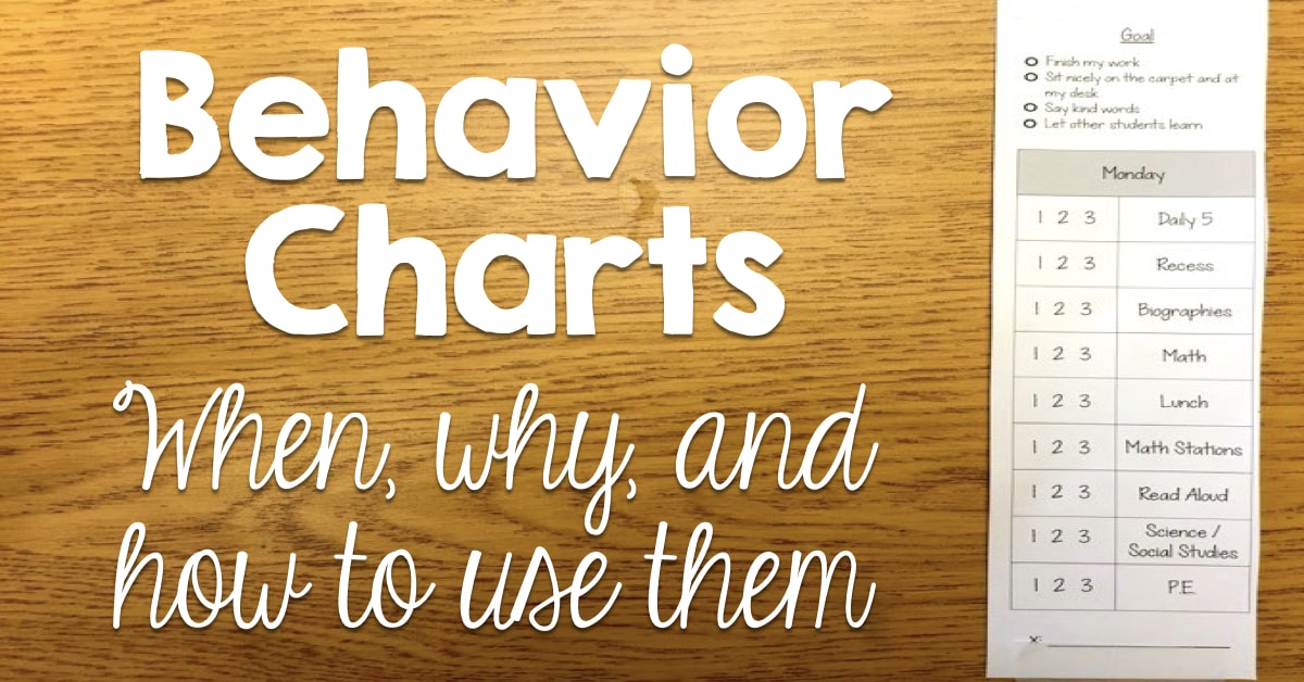Behavior Charts   When  Why  and How to Use Them  Freebie