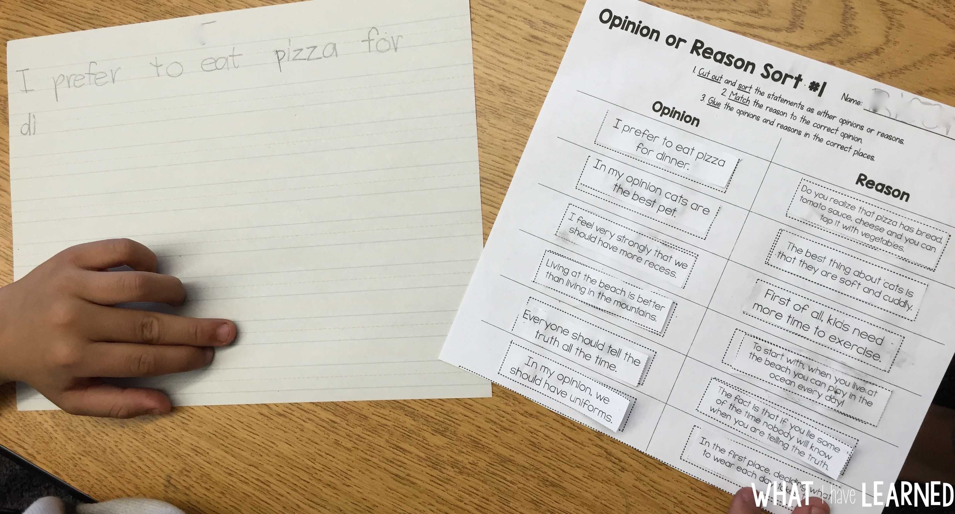 How To Teach Opinion Writing