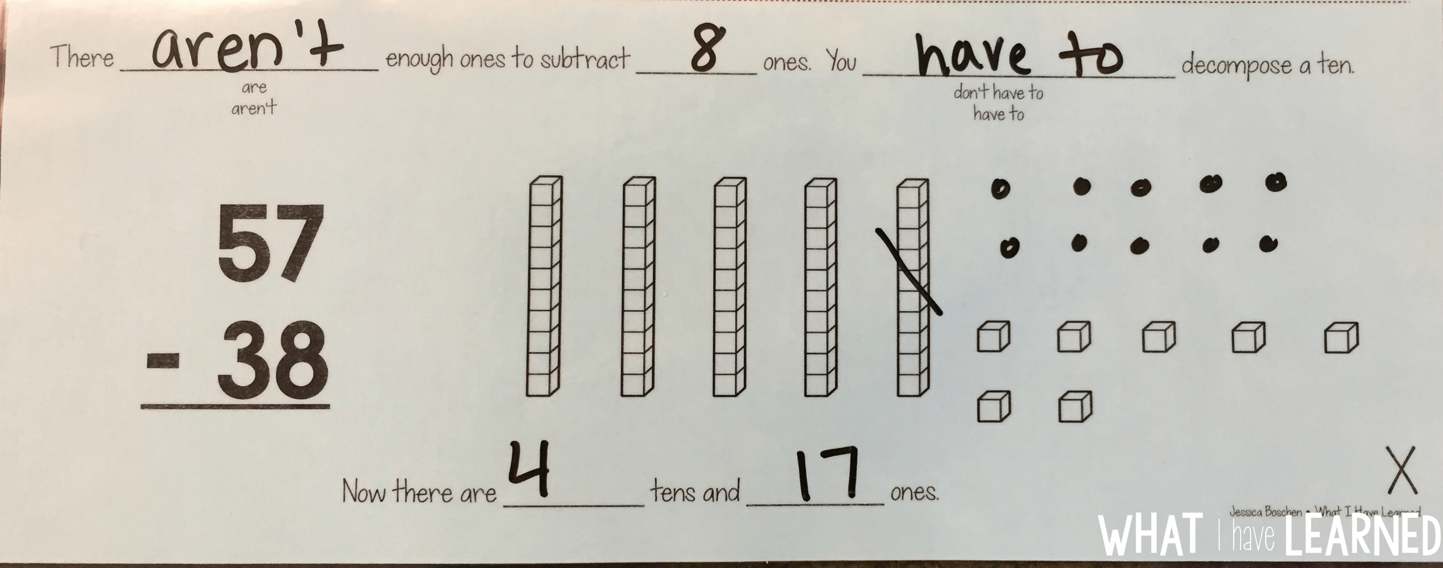 2 Digit Addition With Regrouping Worksheet Base Ten Blocks