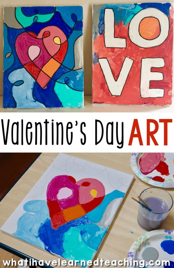 Valentine's Day Art Activities for Elementary School