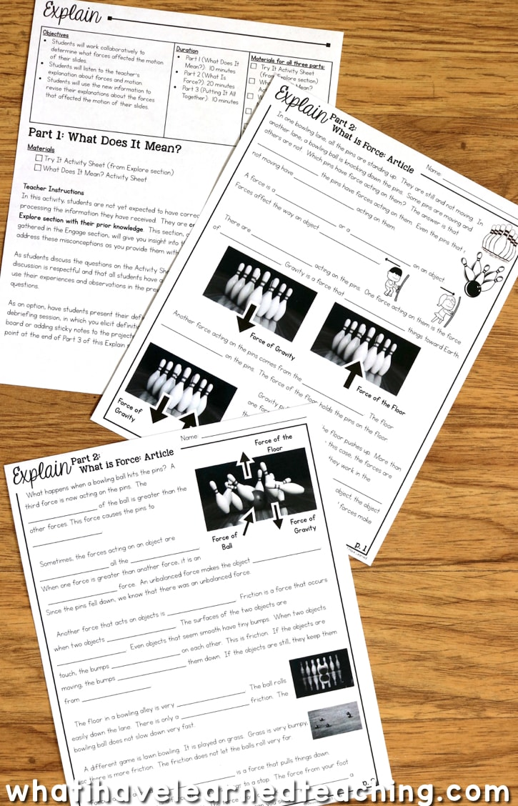 5e Learning Cycle Lesson Plans