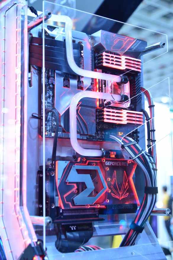 black and red computer motherboard