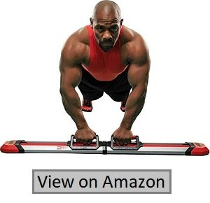 Iron Chest Master Push Up Machine - The Perfect Chest Workout. Fully Assembled with Built-in Resistance Bands. Includes Workout Programs