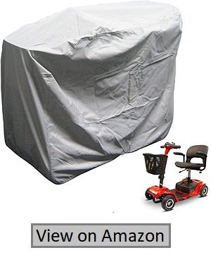 """Formosa Covers Heavy Duty 300D Mobility Scooter Storage Cover- Keep Your Electric Powered Wheelchair Clean And Dry At Home Or On The Road 48"""" L×22'D×38"""" H"""