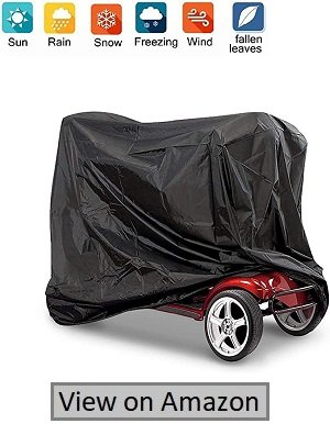 Nomiou Mobility Scooter Cover With Storage Heavy Duty Black Protects From Snow, Rain, Dust, And Sun