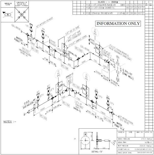 Isometric Sketch Valves