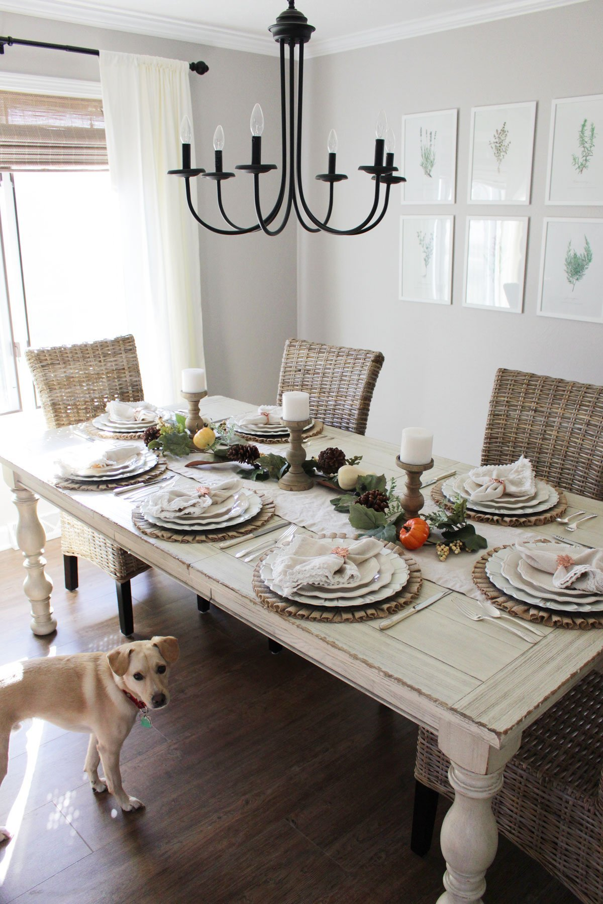 Our Farmhouse Inspired Thanksgiving Table Setting What