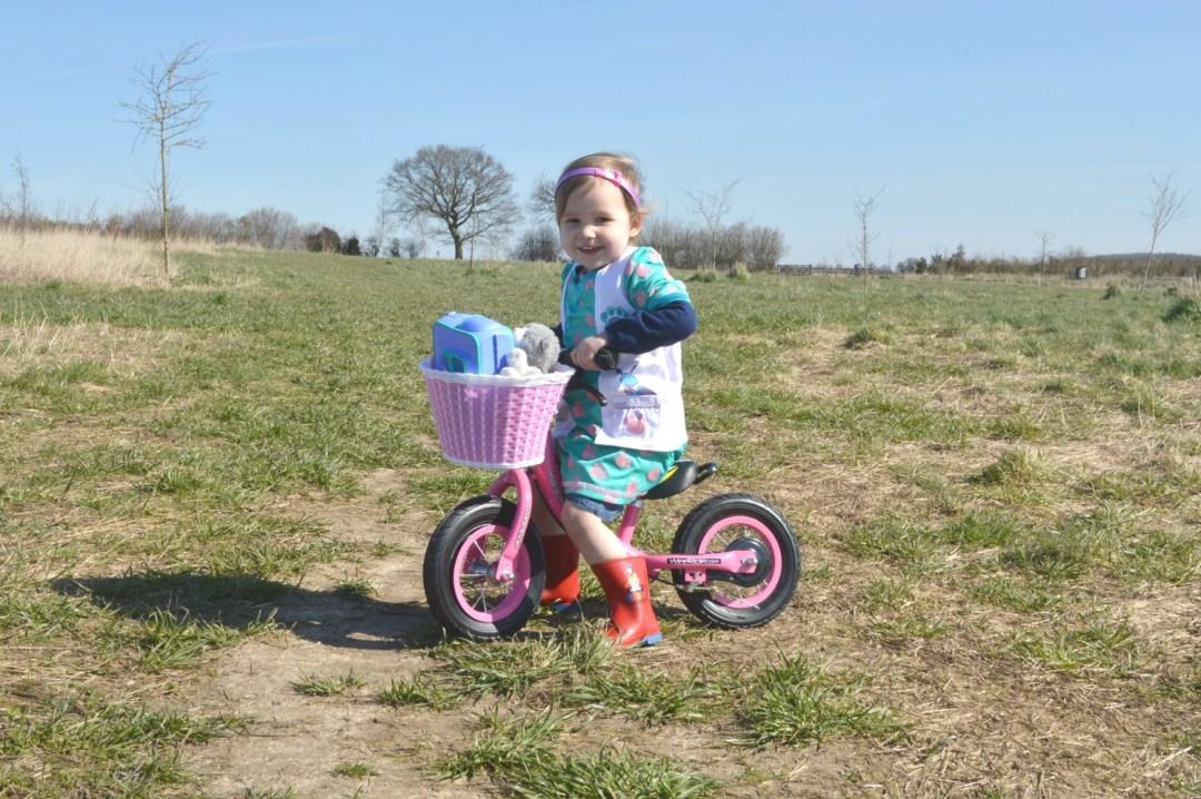 LJ on her balance bike