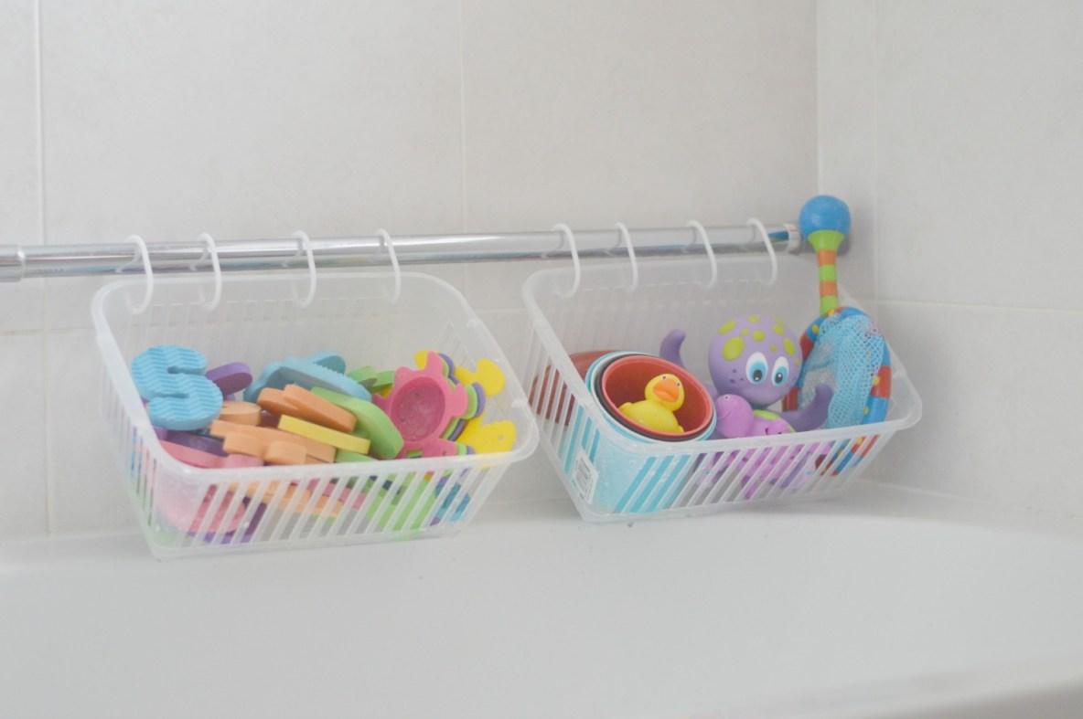 organised bath toys