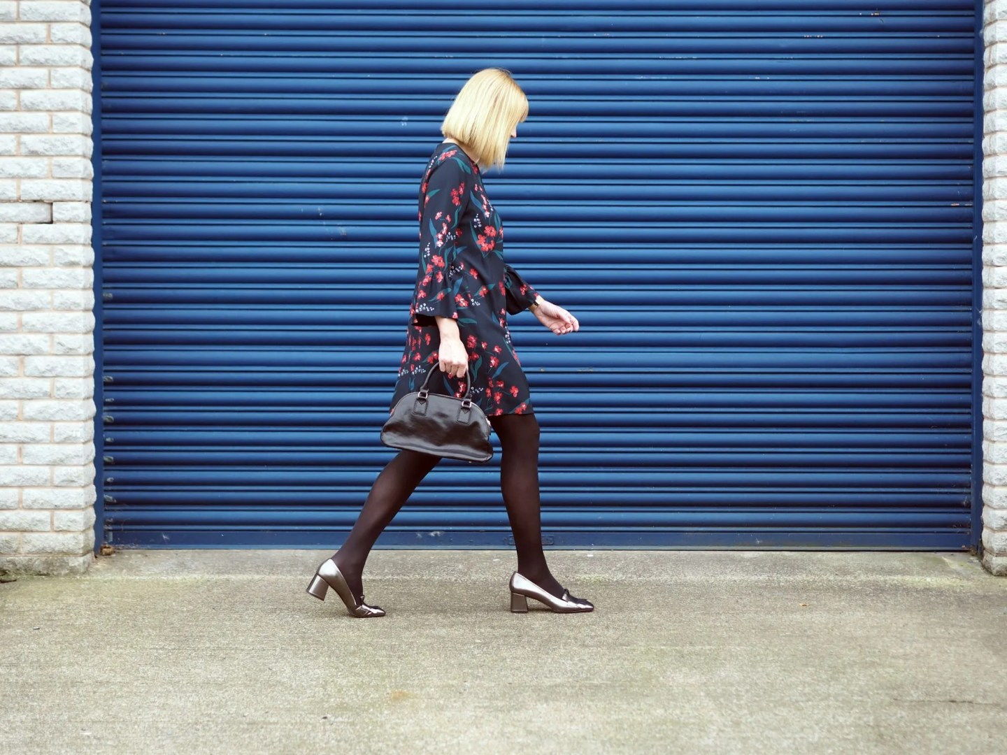 what-lizzy-loves-desk-dinner-dress-workwear-hobbs-over-40-collective-metallic-loafers