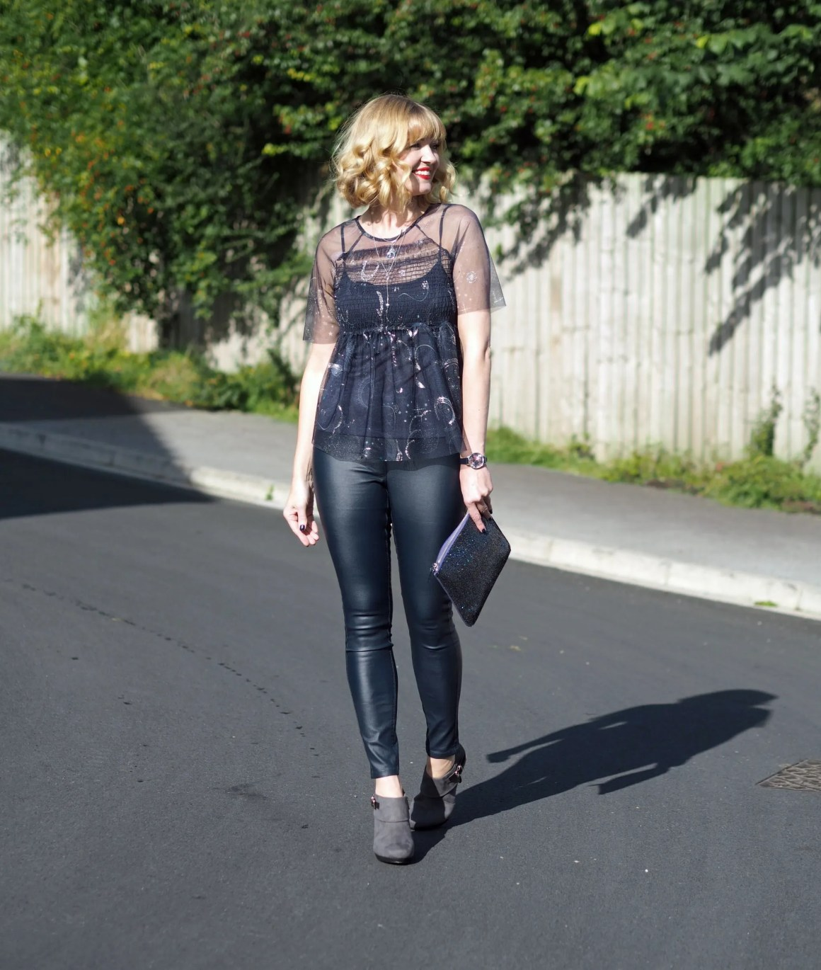 what-lizzy-loves-coated-skinnies-leggings-high-heeled-ankle-boots- constellation-top