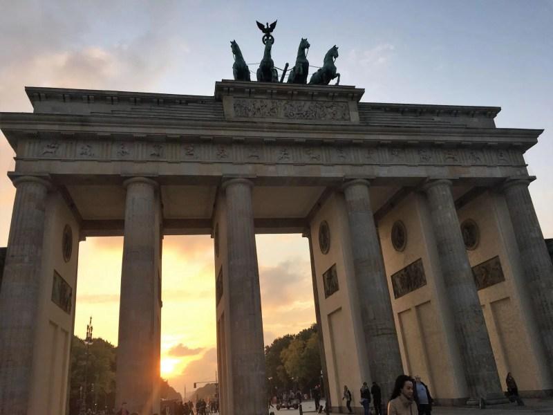 Brandenburg gate at sunset, Berlin, What Lizzy Loves blog