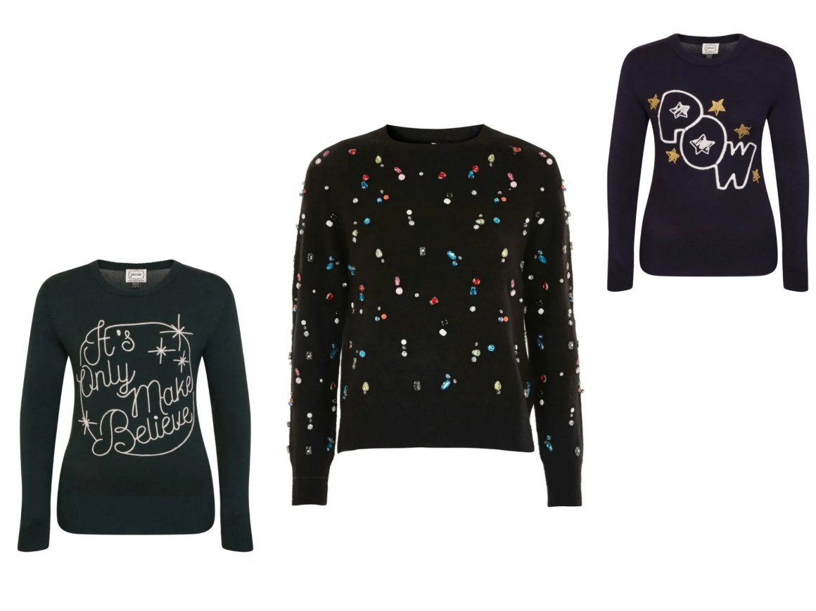 what lizzy loves statement christmas slogan jumpers Black friday