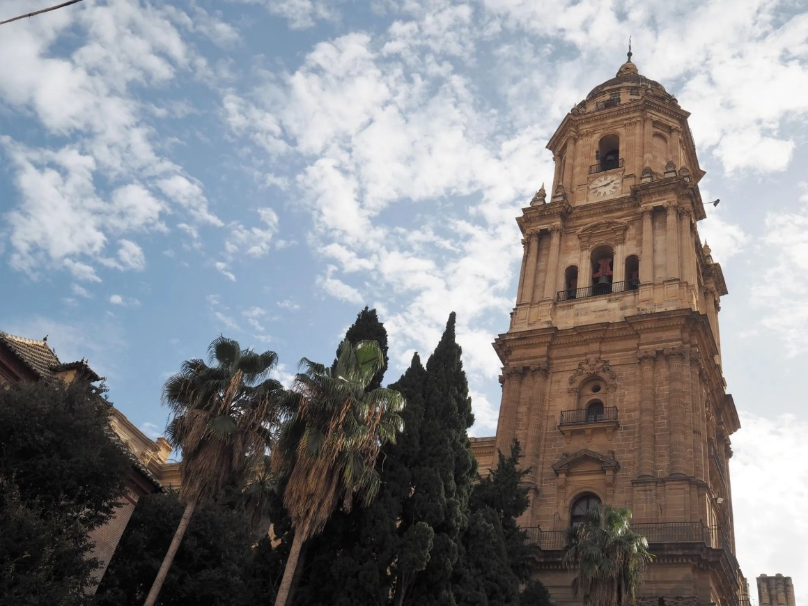 What Lizzy Loves Malaga in November Malaga cathedral