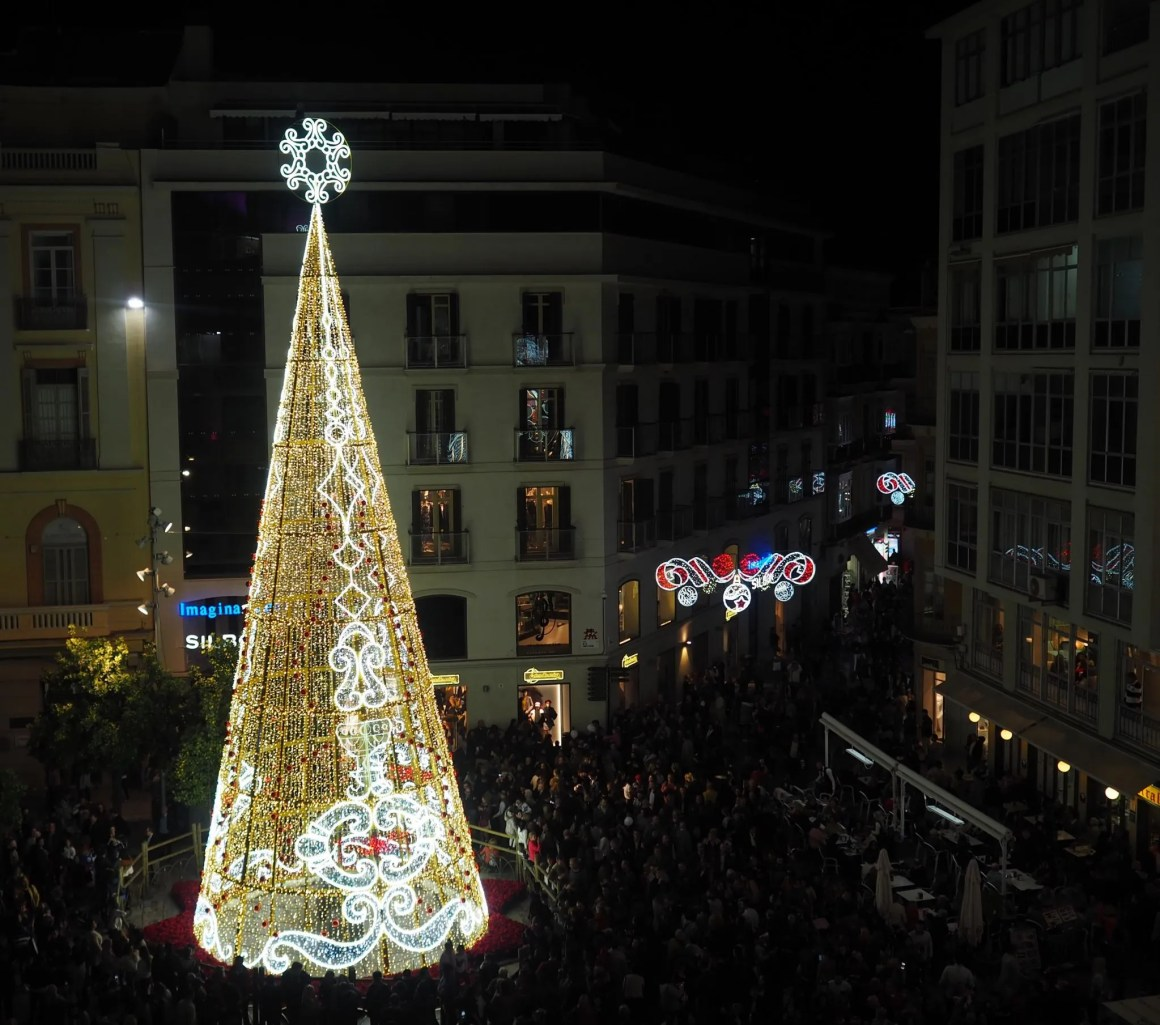 What Lizzy Loves Malaga Christmas lights tree