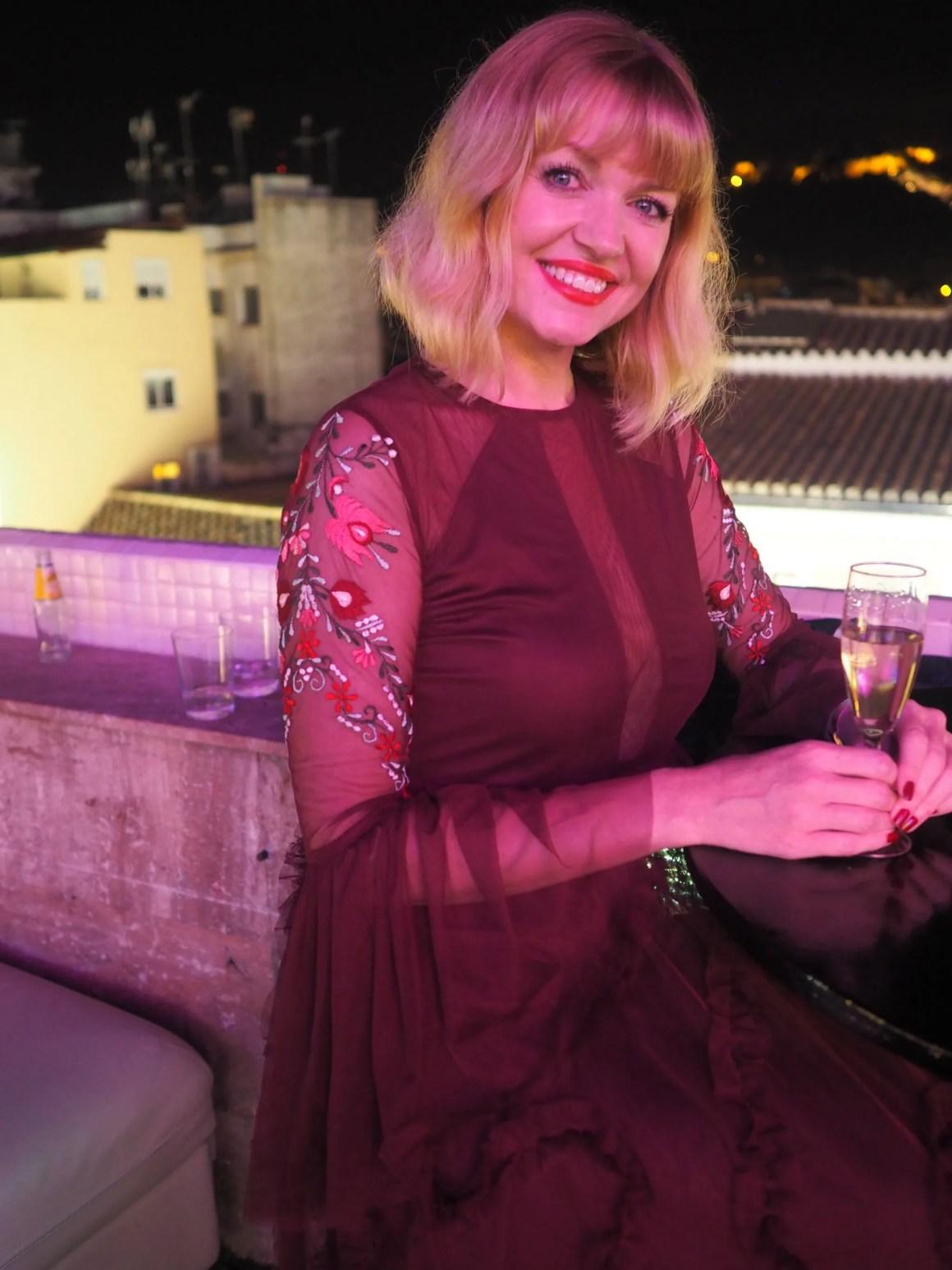 What Lizzy Loves Malaga Christmas maxi dress