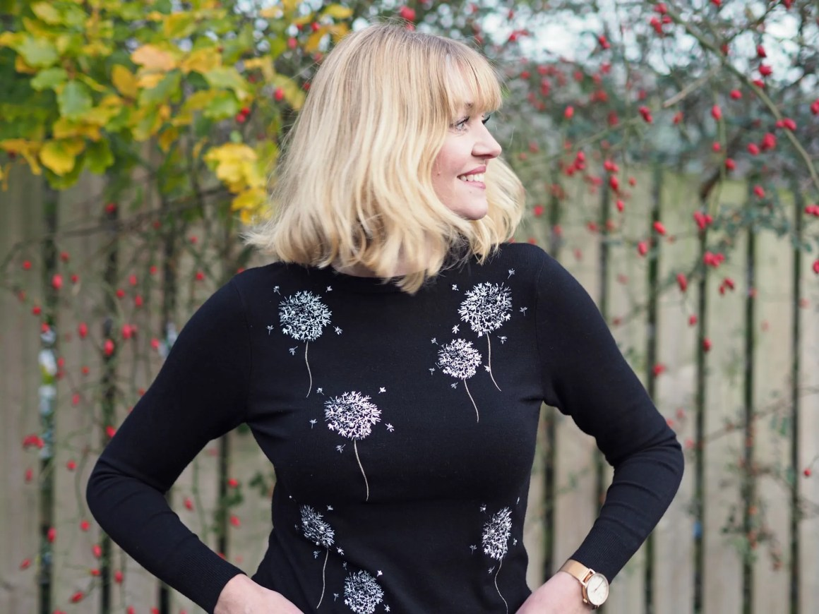 what lizzy loves dandelion embroidered top