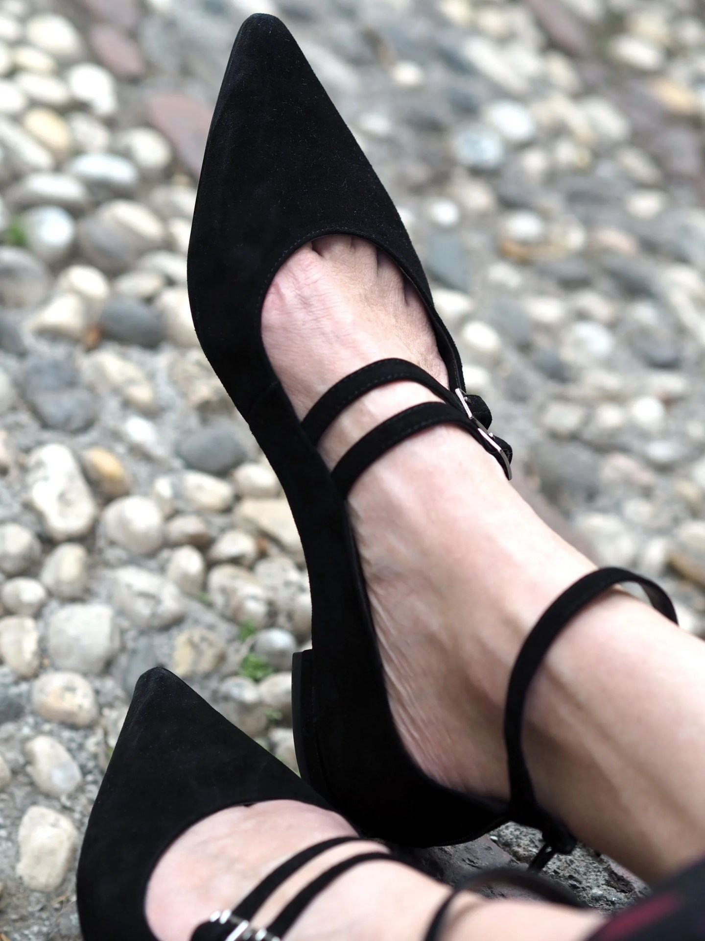 What Lizzy Loves Malaga in November strappy flats