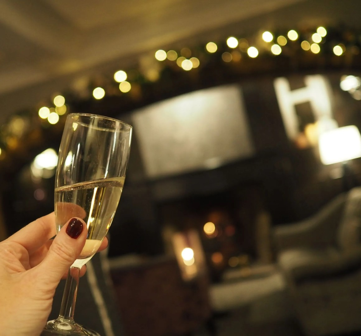 What Lizzy Loves Christmas Stirk House fire lounge