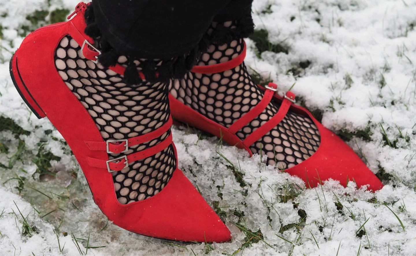 What Lizzy Loves fishnet socks with shoes