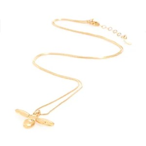 Long honey bee necklace