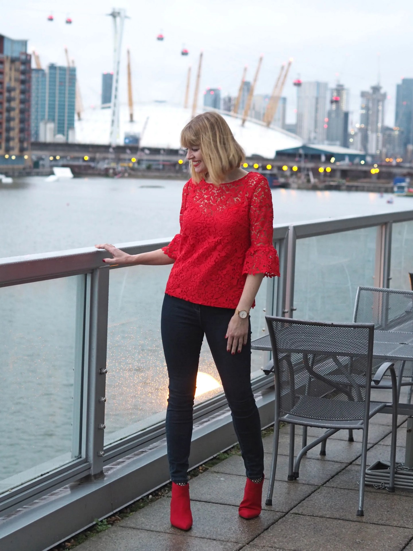 what-lizzy-loves-Boden-red-lace-top-red-boots