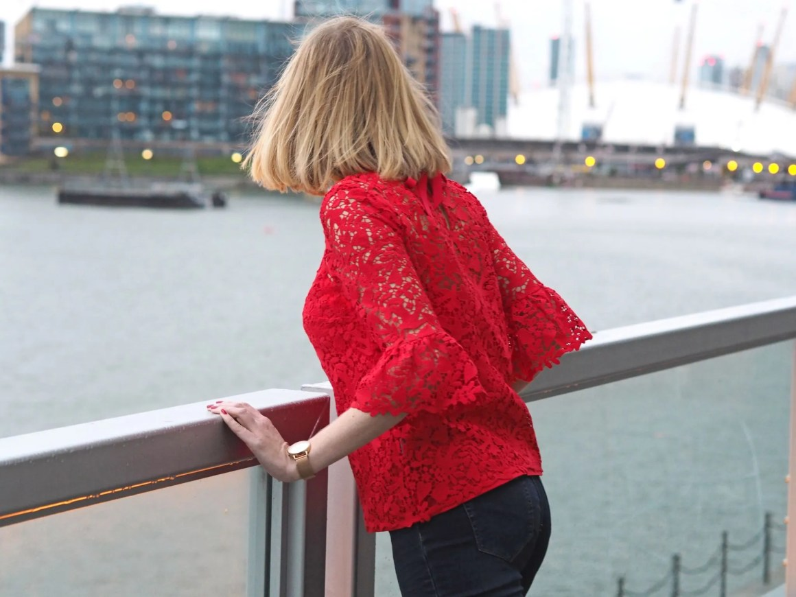 what-lizzy-loves-Boden-red-lace-top-back-bow