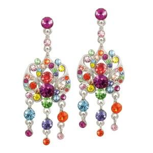 Eternal Collection Abracadabra Rainbow Swarovski Earrings