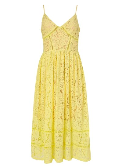 Yellow lace mid dress (now reduced)