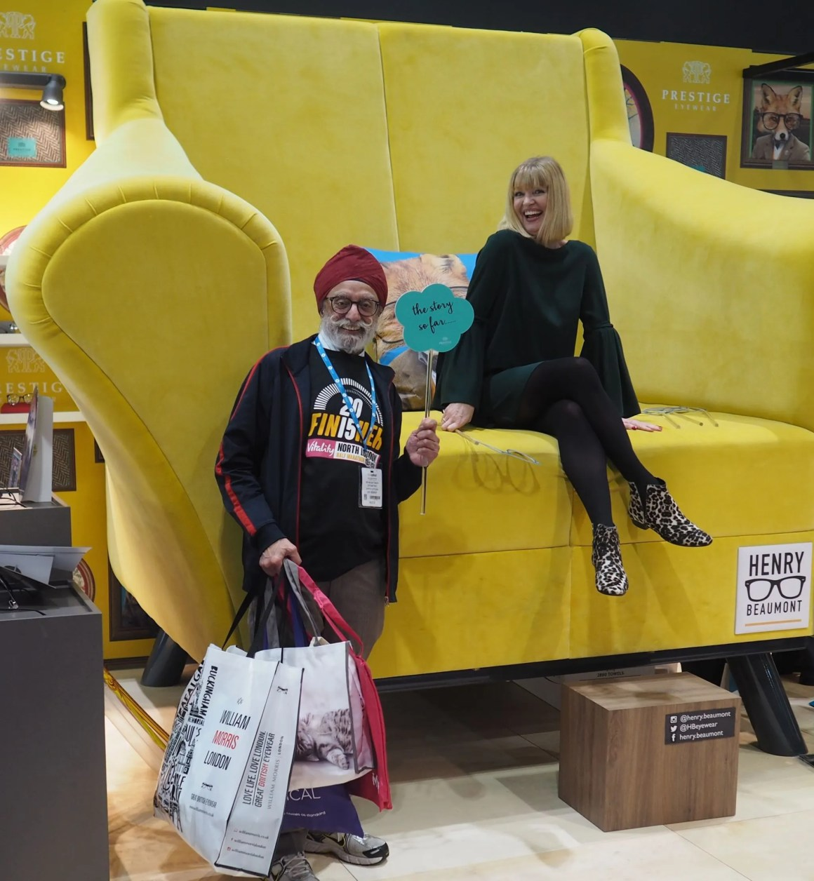 what-lizzy-loves-100%optical-2018-Henry Beaumont Yellow Chair