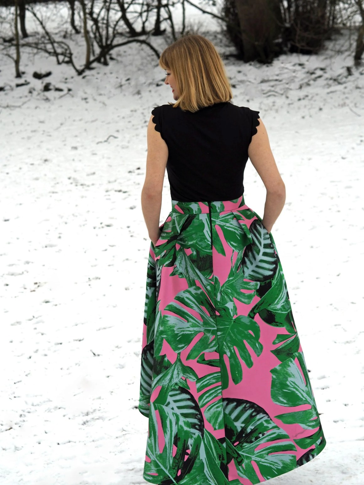 what lizzy loves green and pink party skirt snow
