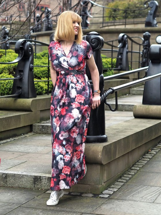 what lizzy loves Hotsquash floral maxi
