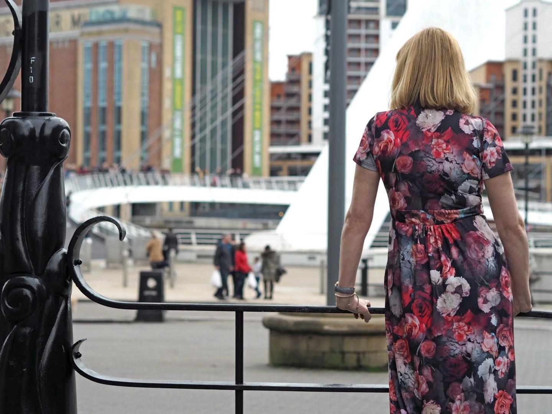 what lizzy loves view of Milennium bridge Gateshead