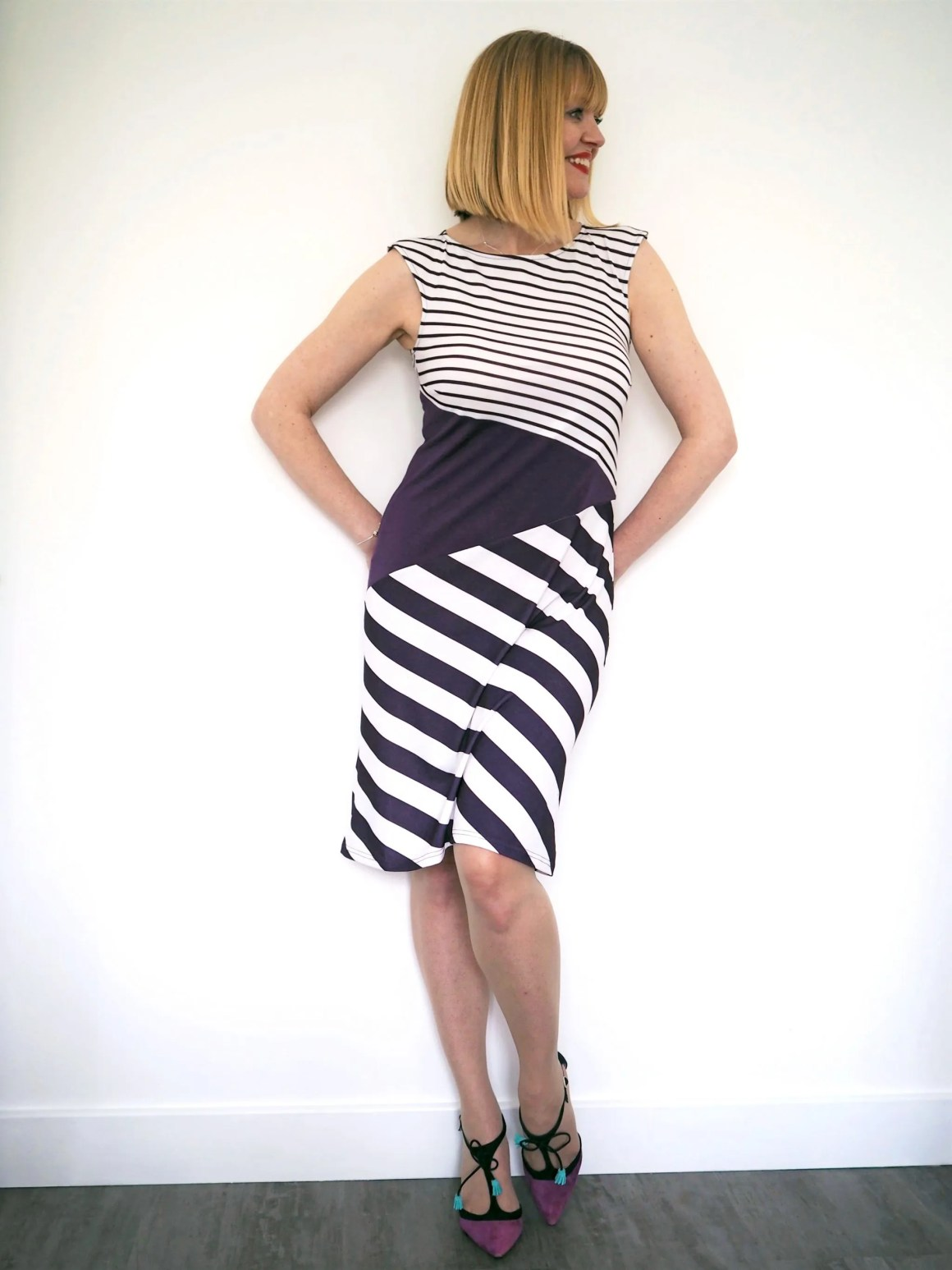 what lizzy loves purple damson striped Hotsquash summer dress