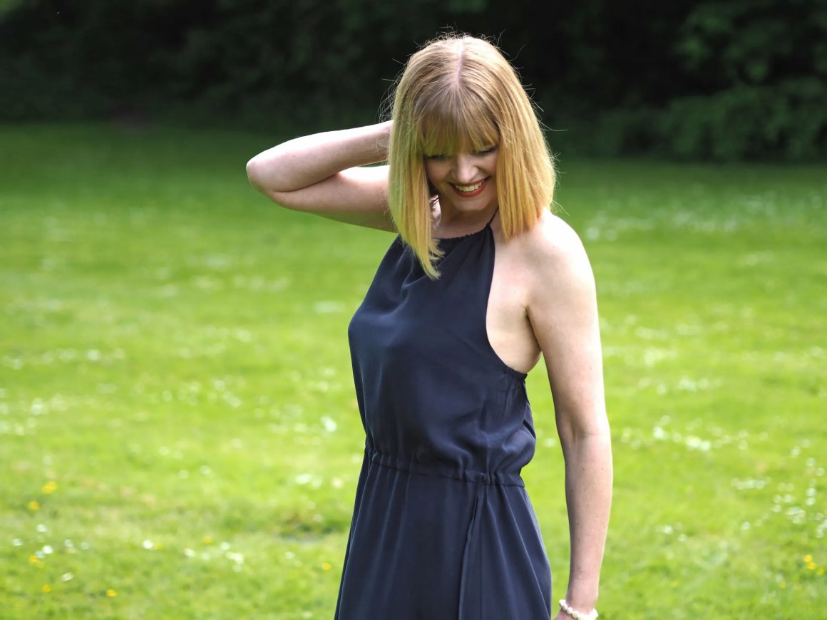 what Lizzy loves silk navy maxi dress