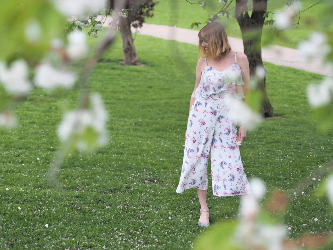 what lizzy loves blossom and floaty floral jumpsuit