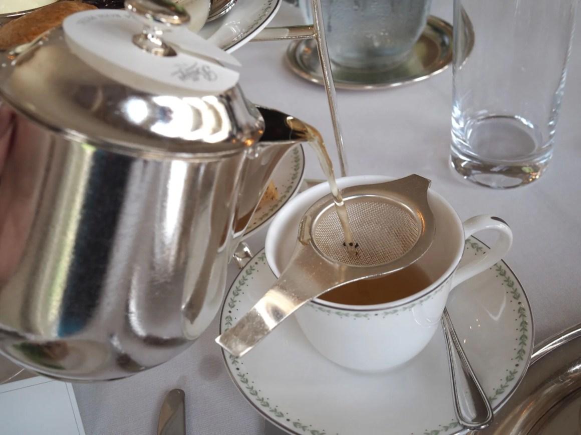 China Rose tea at Bettys