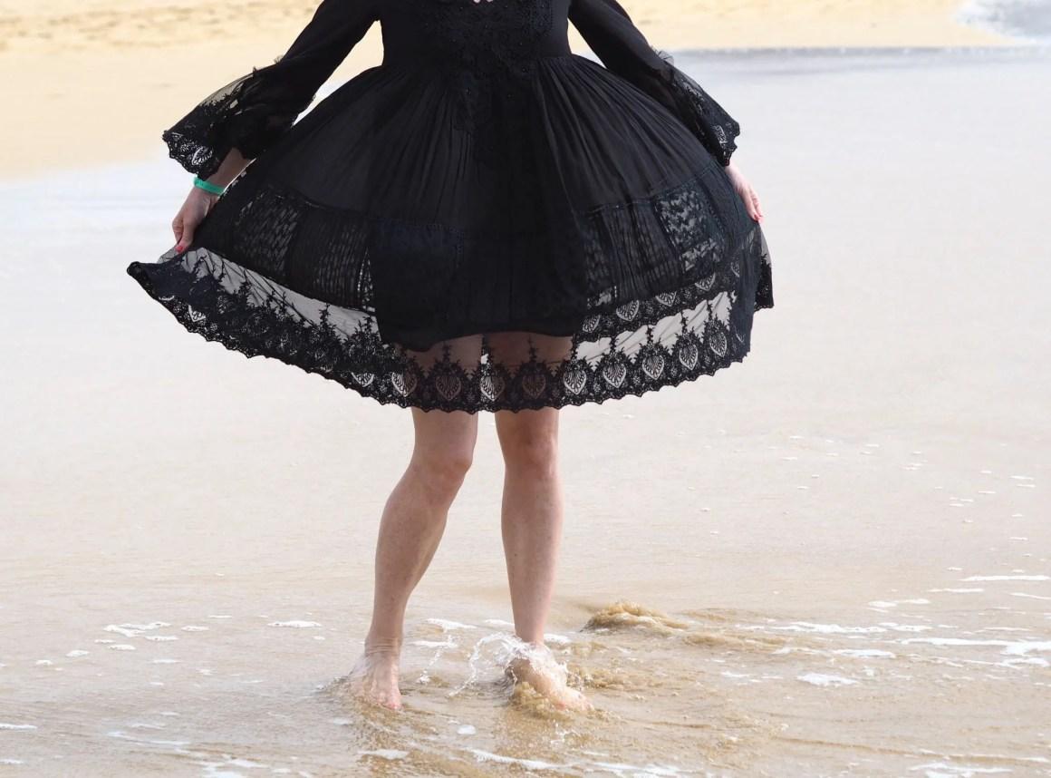 What Lizzy Loves Iconique black sun dress