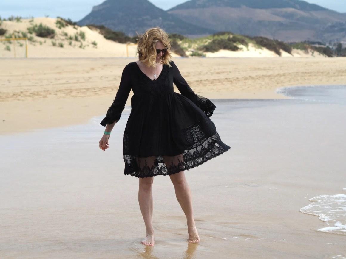 What Lizzy Loves Iconique lace black sun dress