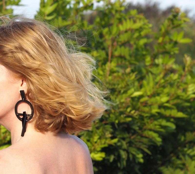 what Lizzy Loves Toolally LBD large black hoop earrings