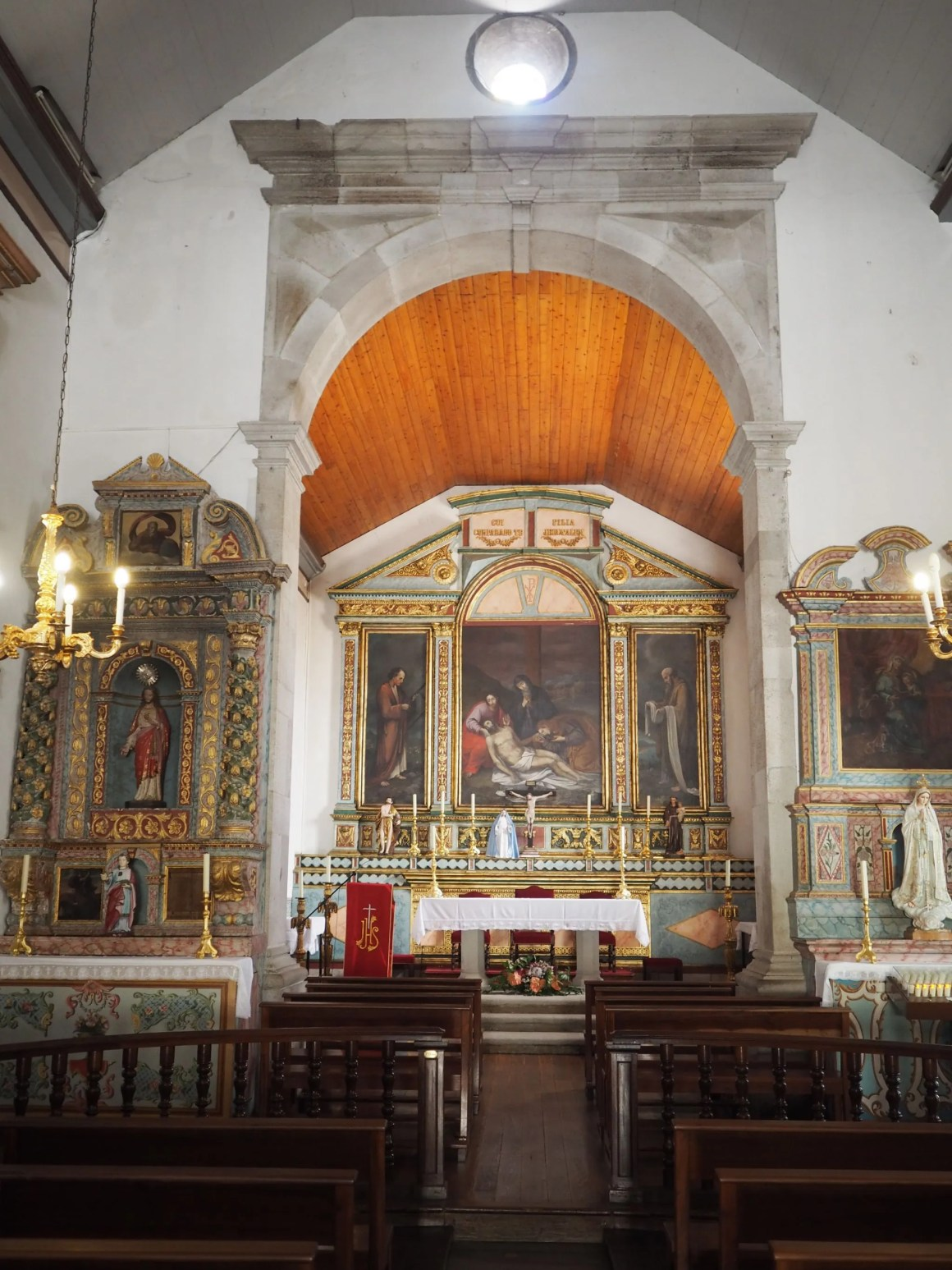 Inside Porto Santo church