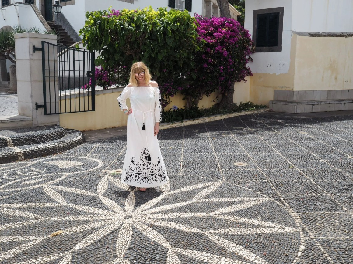 what lLizzy Loves embroidered maxi dress Porto Santo