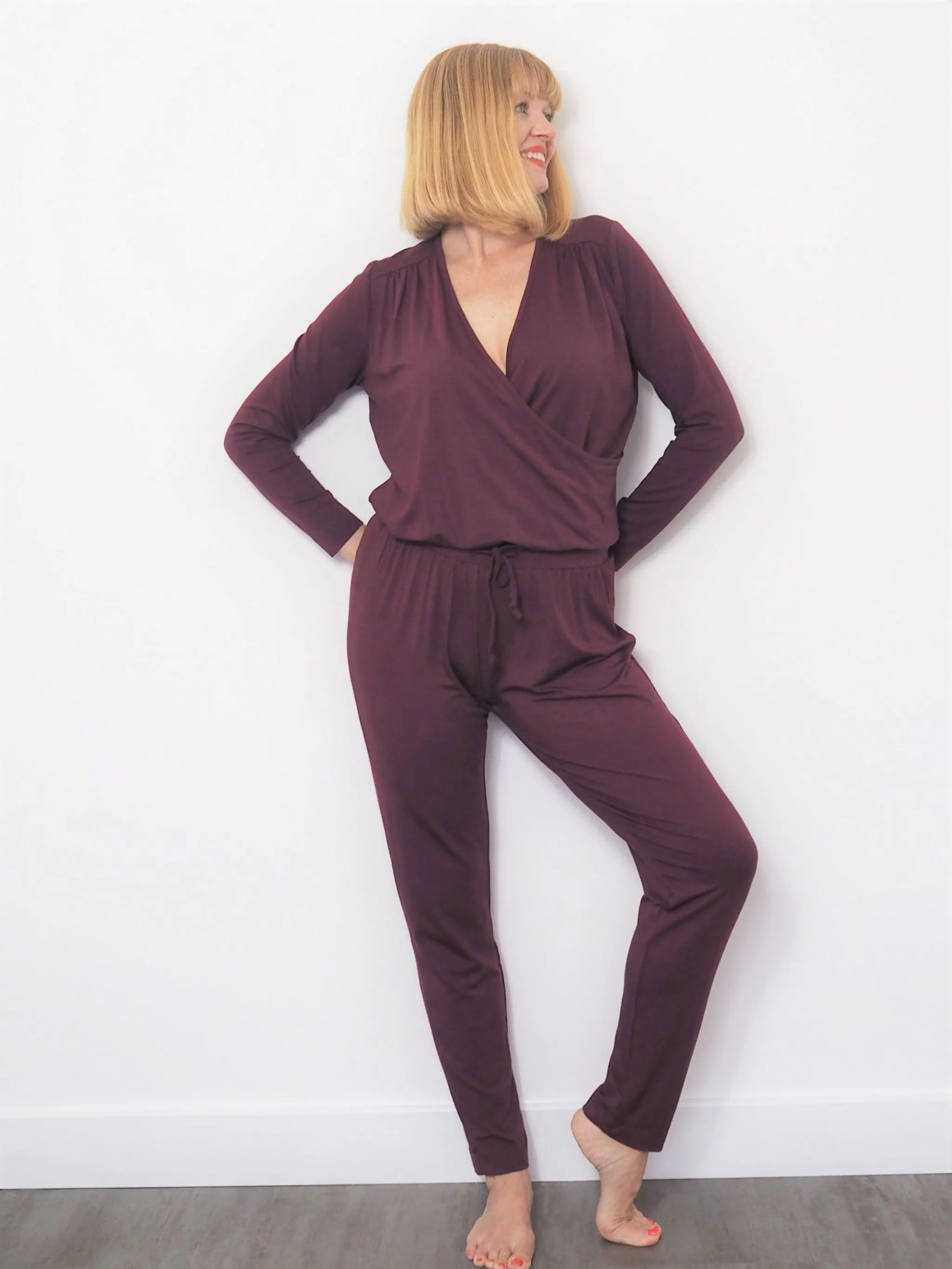 Asquith bamboo clothing claret jumpsuit